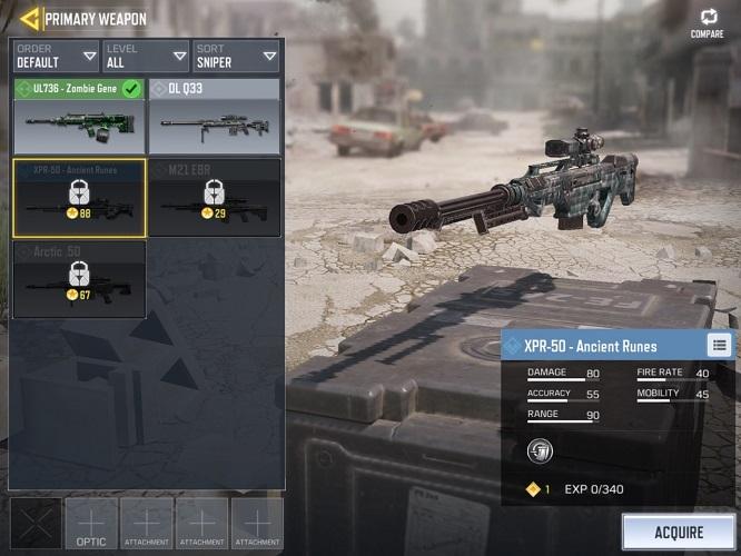 Senjata Terbaik CODM XPR 50