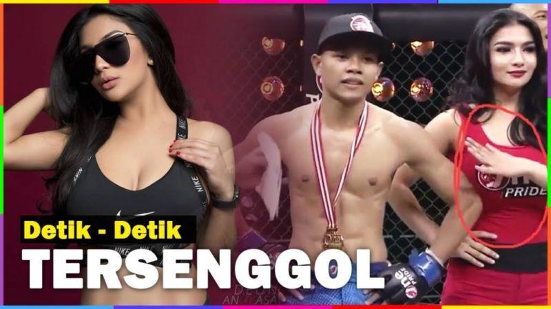 Viral, Bagian Sensitif Gadis Ring Ini Tak Sengaja Disenggol Petarung MMA Indonesia! Dafunda