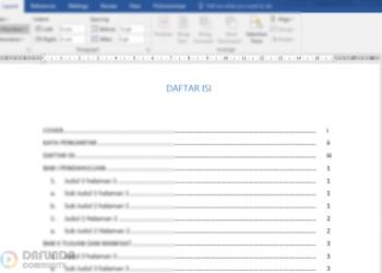 Cara Membuat Daftar Isi Manual