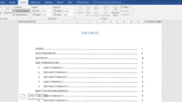 Cara Membuat Daftar Isi Manual Di Word Semua Versi Dafunda Com