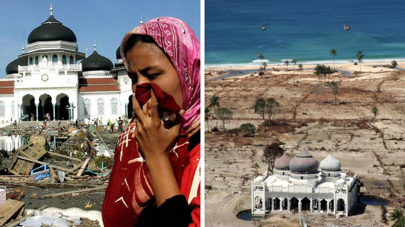 Masjid Tetap Kokoh Hingga Martunis, Inilah 4 Keajaiban Saat Tsunami Aceh Tahun 2004 Lalu! Dafunda Gokil
