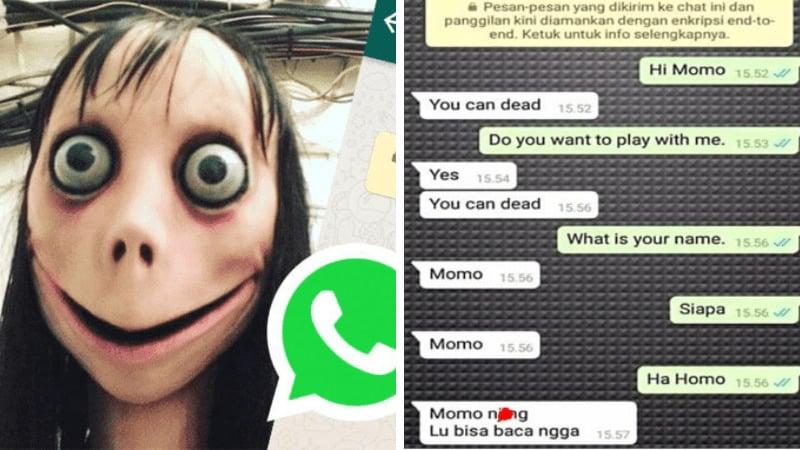 Ngakk Ada Takutnya, 8 Chat Netizen Dengan Momo Challenge Ini Malah Bikin Ngakak! Dafunda Gokil