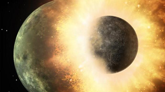 Planet Menabrak Bulan