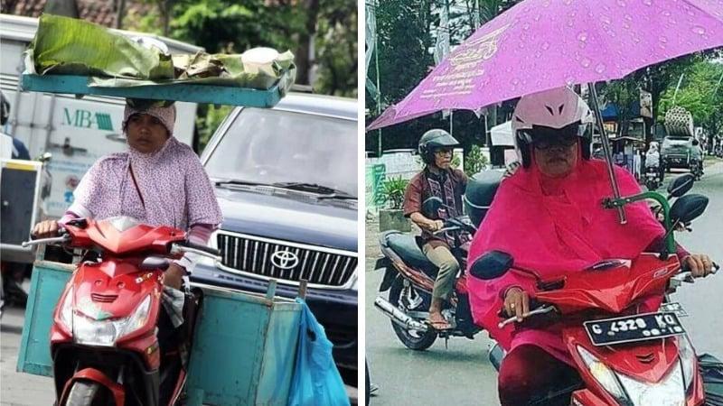 Serba Bisa, Ini 10 Aktivitas Nyeleneh Emak Emak Ketika Bawa Motor, Ngakak Anjir! Dafunda Gokil