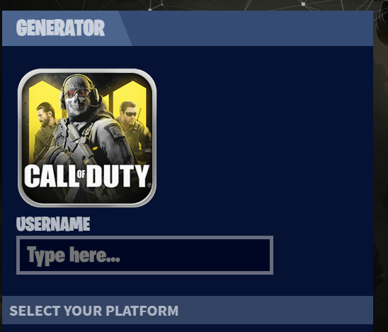 Generator Call of Duty Mobile