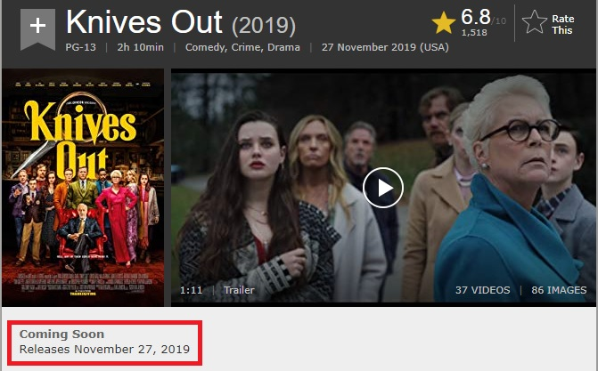 Knives Out Imdb