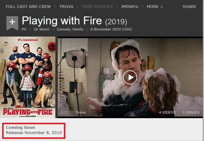 Movie Details Playing With Fire This Year @KoolGadgetz.com