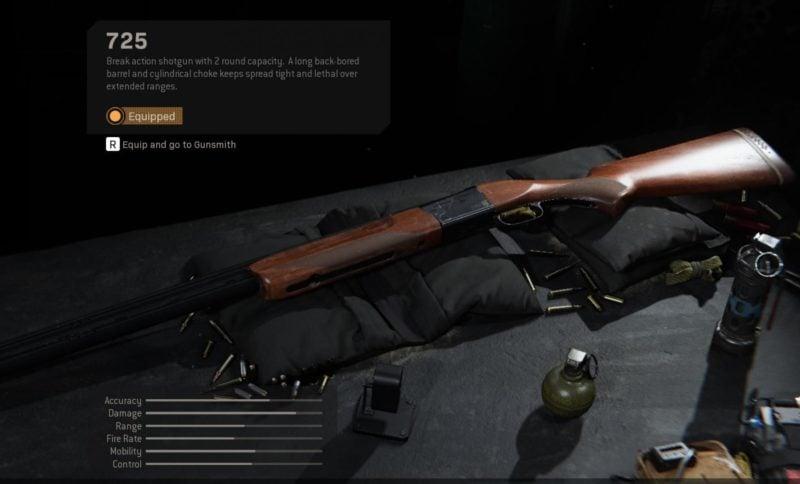 Senjata 725 Shotgun Mendapatkan Nerf Pada Update Patch