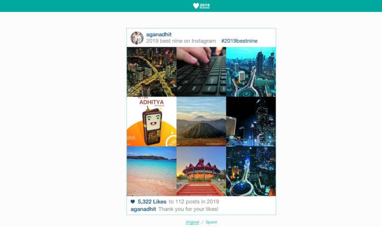Cara Menampilkan Best Nine 2019 Instagram