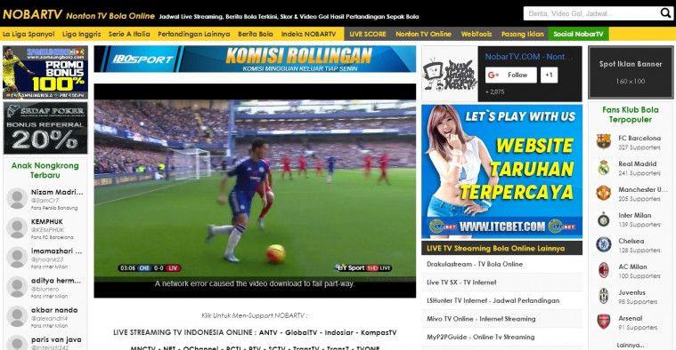 Situs Live Streaming Bola Terbaik