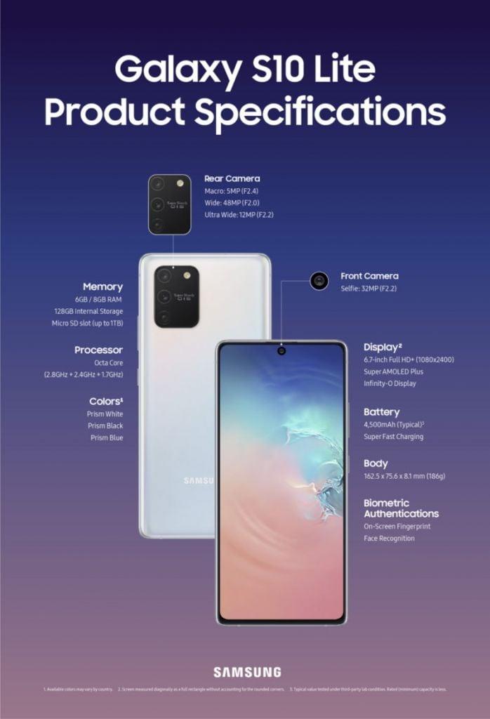 Spesifikasi Galaxy S10 Lite Dan Galaxy Note 10 Lite
