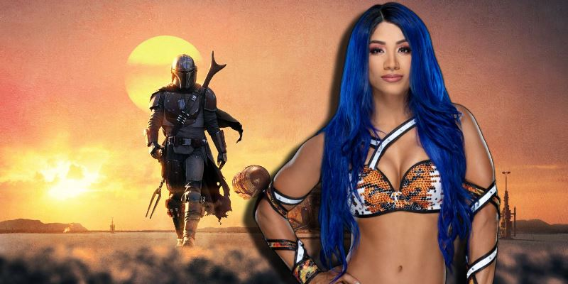 Mandalorian Sasha Banks WWE star wars