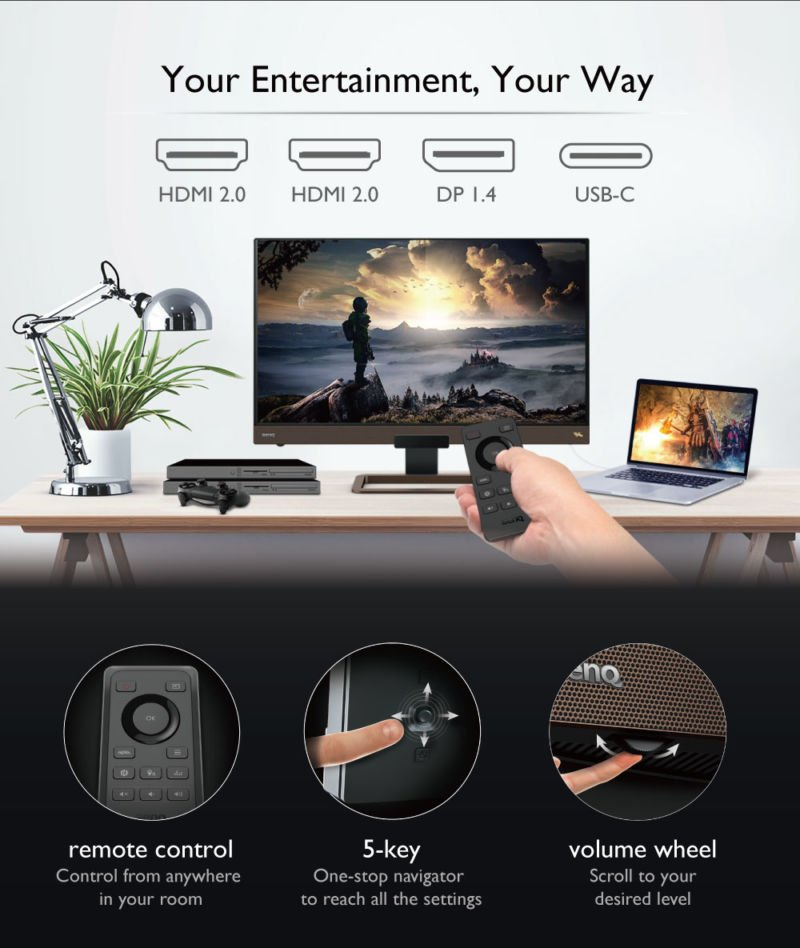 Benq Ew3280u 32 Inch 4k Uhd Ips Hdr Hdri Eye Care Gaming Monitor 06
