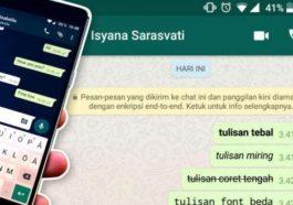 Cara Membuat Teks Tebal Miring Dan Coret Di Whatsapp