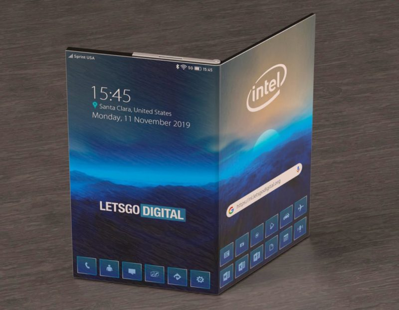 Smartphone Intel Fodable