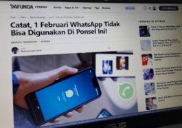 Whatsapp Dihentikan Dukungan Untuk Ponsel Android Dan Ios Min