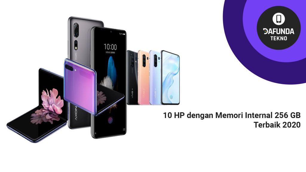 10 HP dengan Memori Internal 256 GB Terbaik 2020