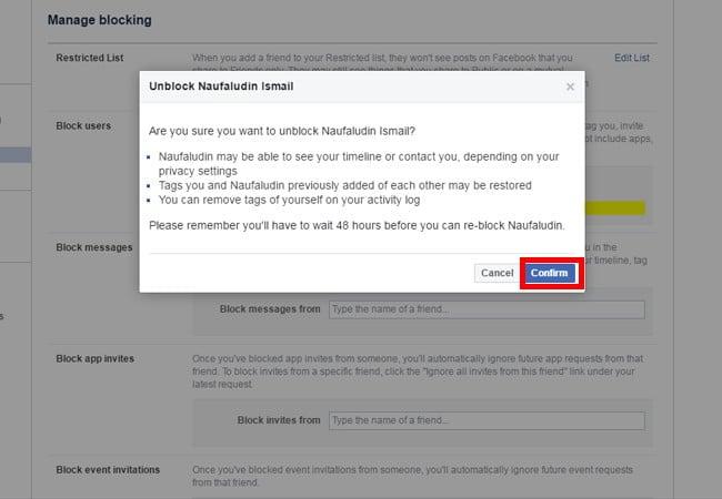 Cara Membuka Blokir Di Facebook