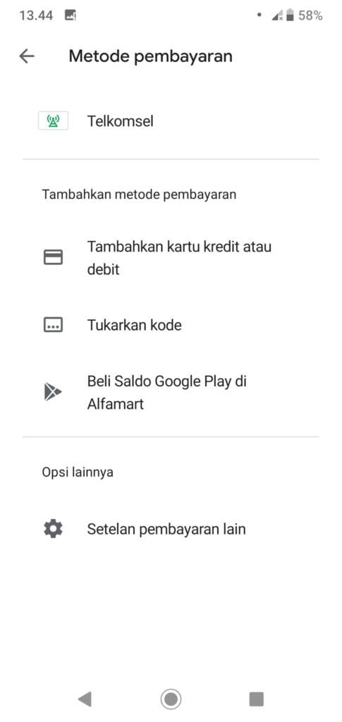 Metode Pembayaran Pulsa Google Play Selesai