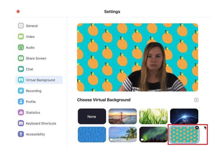 Tampilan Background Di Aplikasi Zoom Cloud Meetings