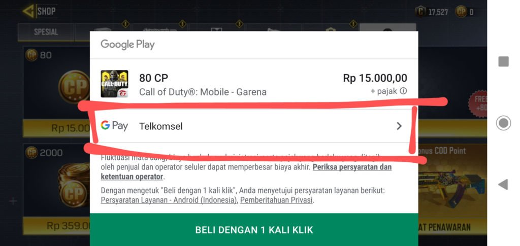 Top Up Cod Mobile Pulsa