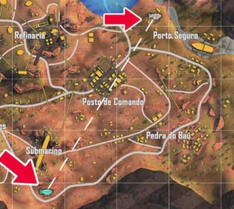 Airdrop Free Fire Map