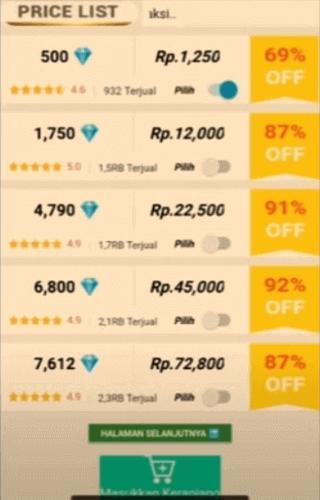 Diamond Shop Deal Mobile Legends