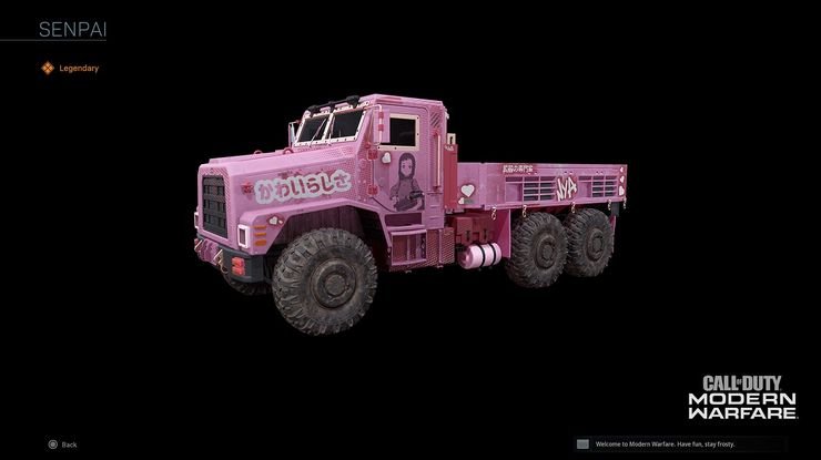 Call Of Duty Warzone Anime Truck