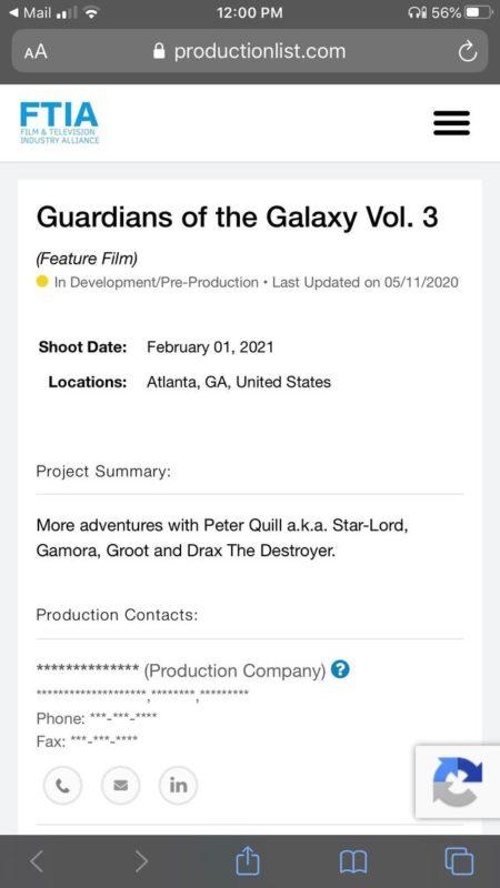 Guardians Of The Galaxy Vol 3 Syuting 1
