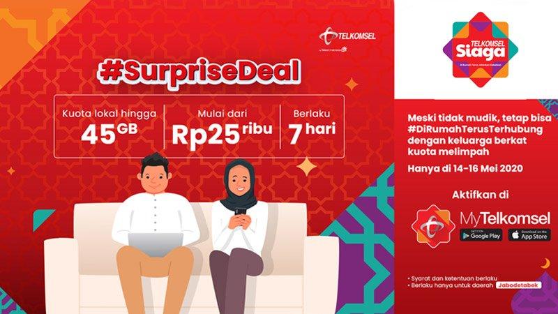 Paket Internet Suprisedeal Telkomsel Hingga 16 Mei 2020