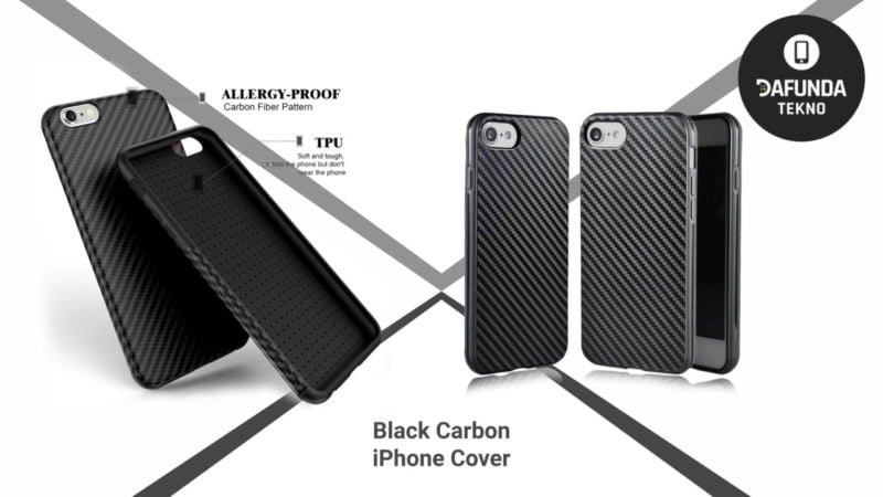 Black Carbon Iphone Cover