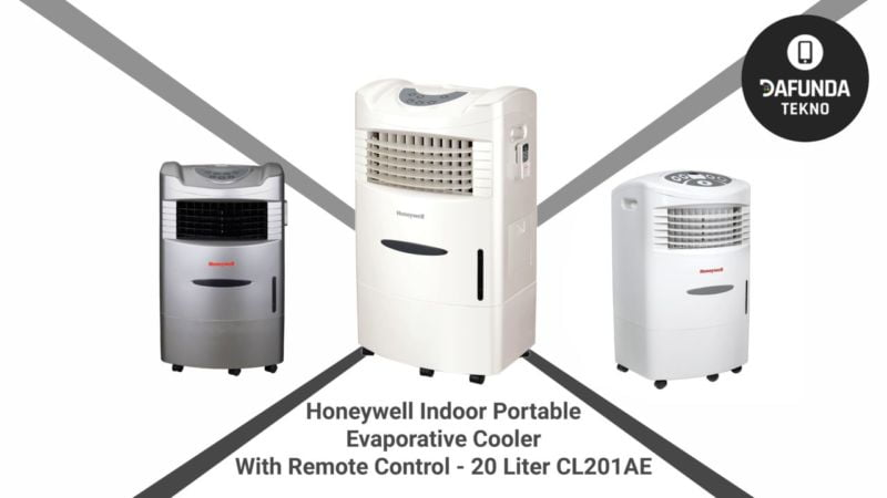 Honeywell Indoor Portable Evaporative Cooler With Remote Control 20 Liter Cl201ae