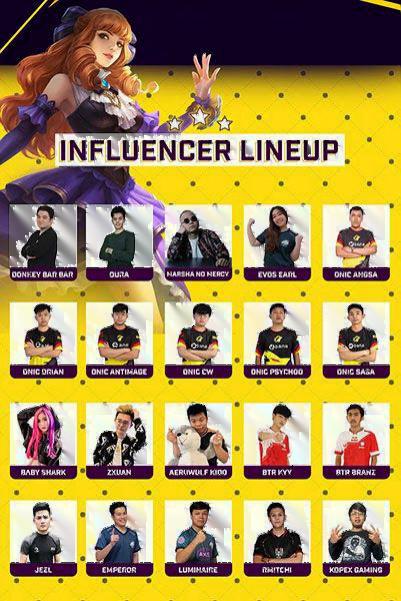 Nma 2 Influencer Lineup