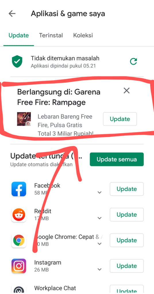 Download Update Free Fire Rampage