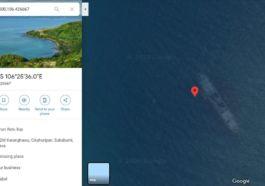 Penampakan Kapal Karam Di Google Maps