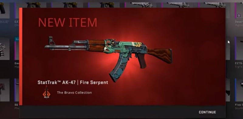 Stattrak Ak47 Fire Serpent