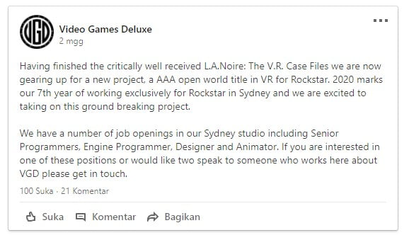Rockstar Kembangkan Game Open World Baru, GTA VR? oleh - gta-v.xyz