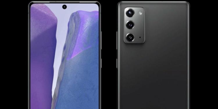 Wujud Samsung Galaxy Note 20
