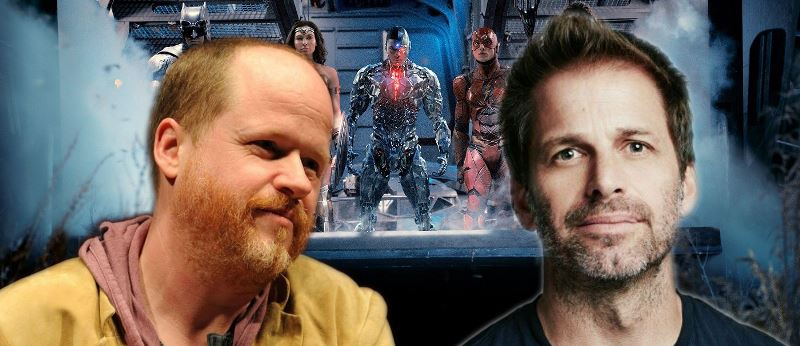 Zack Snyder And Joss Whedon Justice League