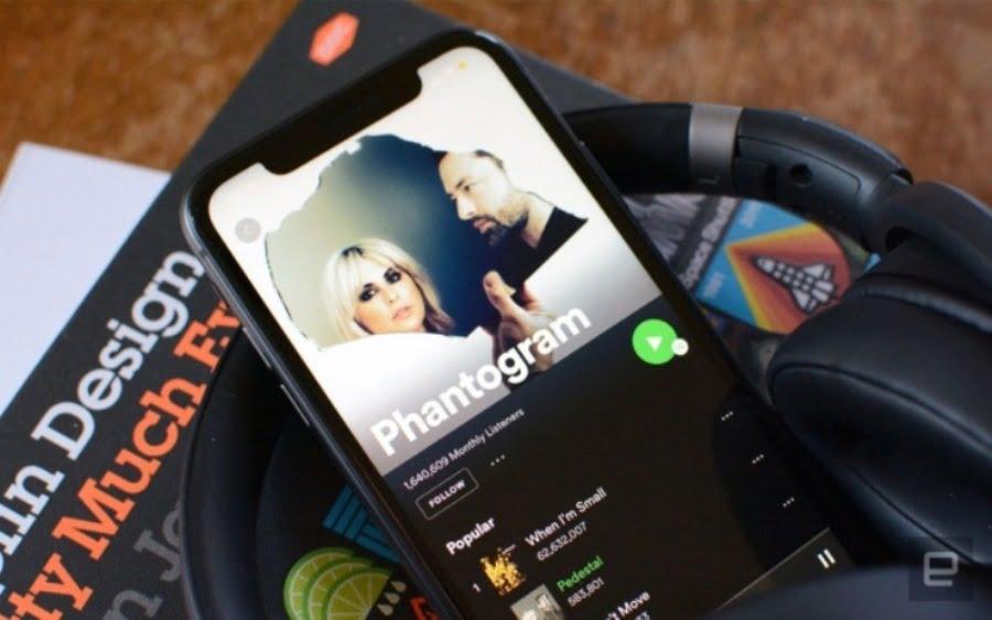 Spotify Remote Dengar musik