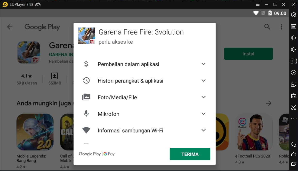 Install Free Fire Ldplayer Gplay