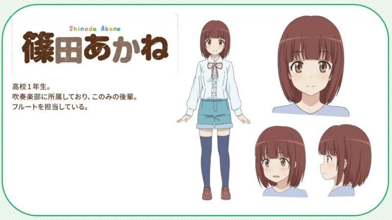 Desain Karakter Akane Shinoda