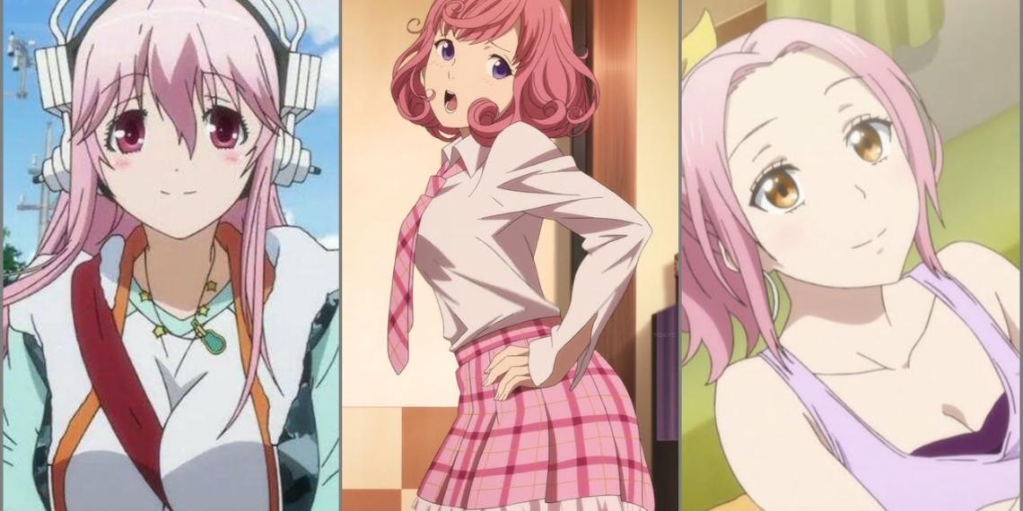Karakter Anime Wanita Berwarna Rambut Pink