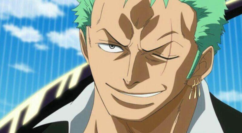 Karakter anime berambut warna hijau Roronoa Zoro