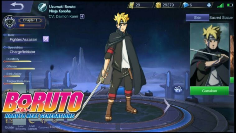 Kemunculan Skin Boruto Di Mobile Legends