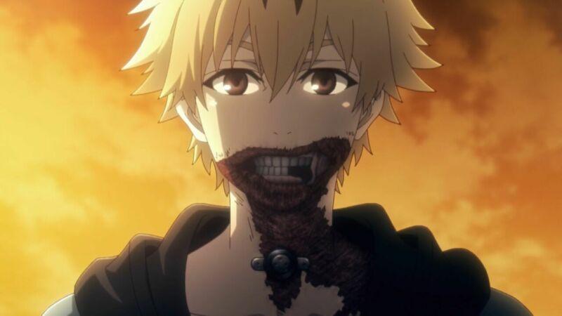 Karakter anime wajahnya terluka Hideyoshi Nagachika