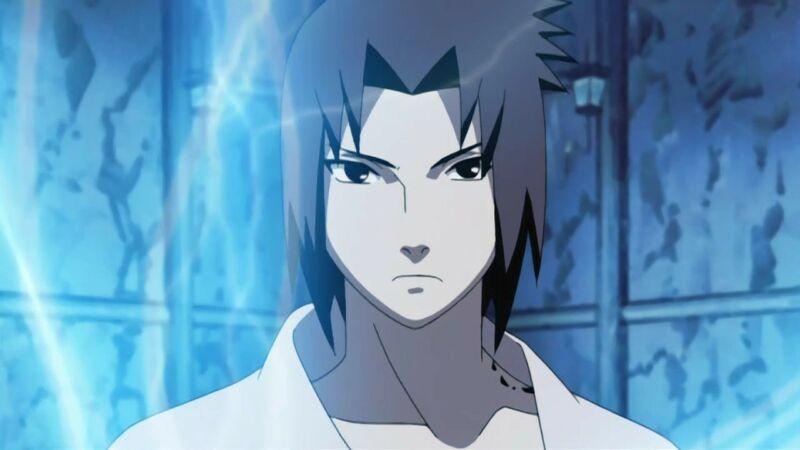 karakter anime satu tangan Sasuke