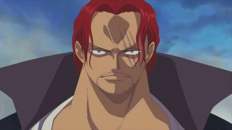 Karakter anime wajahnya terluka Shanks