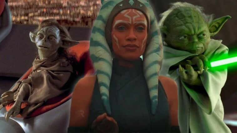 Ahsoka Tano Yoda Yaddle The Mandalorian