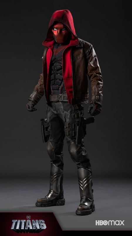 Curran Walters In Red Hood Costume For Titans Season 3